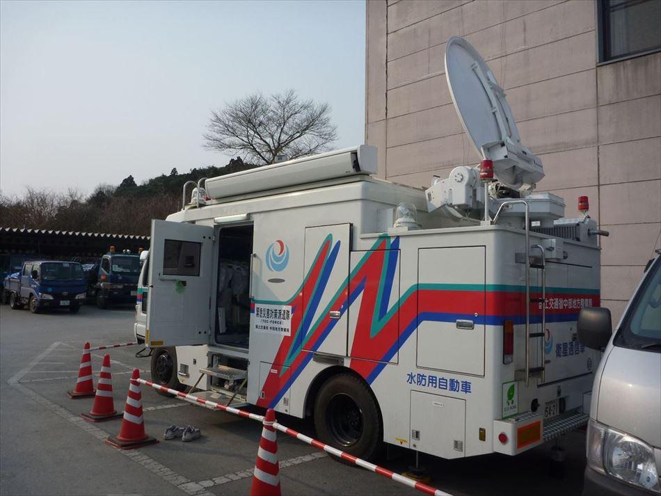 東北震災における衛星通信車の活動状況