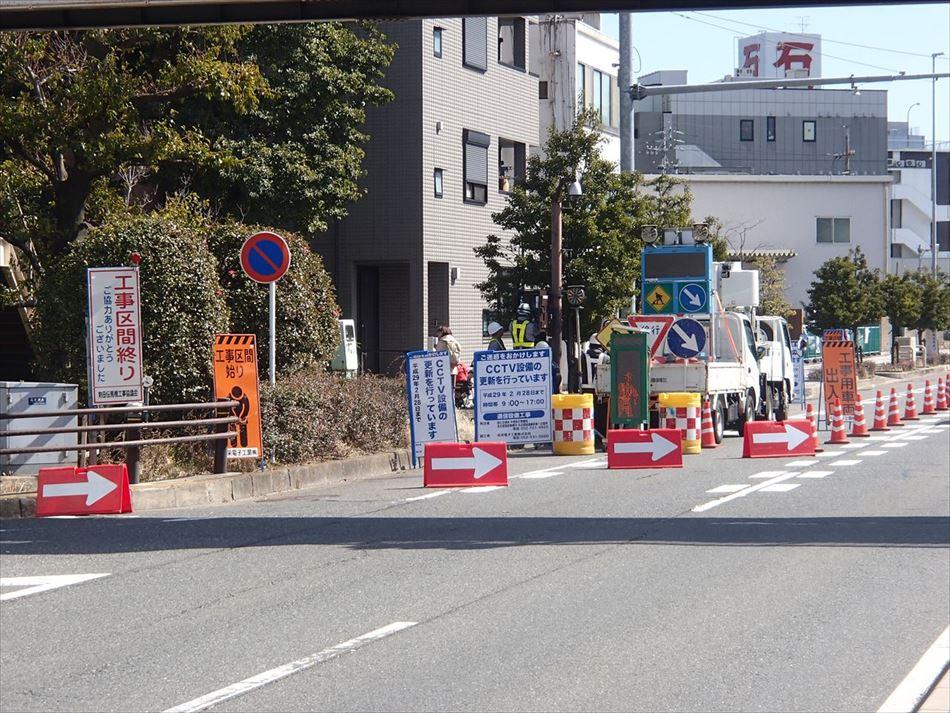 名古屋国道事務所管内のCCTVカメラ設置における道路規制状況