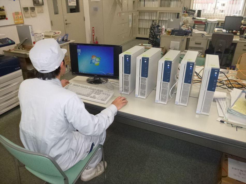 社内におけるパソコンの確認作業