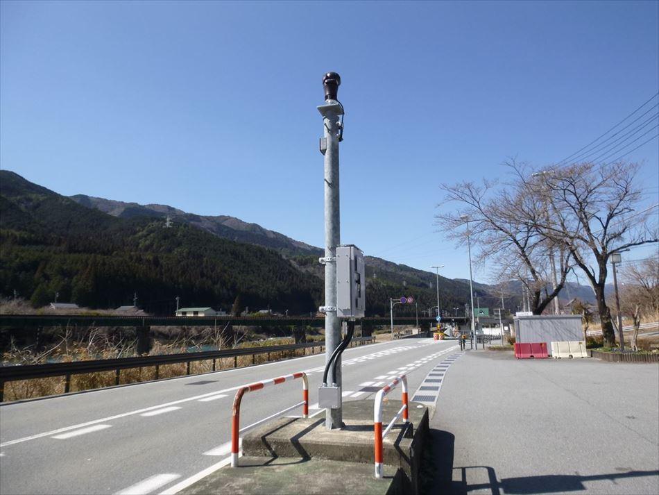 高山国道事務所管内に設置したCCTVカメラ