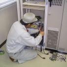 蓮ダム電気通信設備整備工事の作業状況