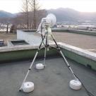 東北震災における現地の活動で庁舎屋上にパソリンクの設置