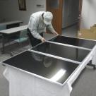 大型液晶ディスプレイの社内検査