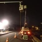 交通量計測装置(トラカン)における夜間作業にて出来形管理を実施
