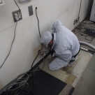 静岡河川事務所に放送装置の設置に伴うアンカー穿孔作業状況