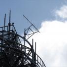無線中継所の鉄塔に設置したK-λ用5素子空中線