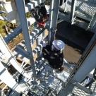浜松河川国道事務所管内 無線中継所鉄塔での作業