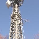 飯田国道事務所管内の中継所における八木アンテナの撤去作業
